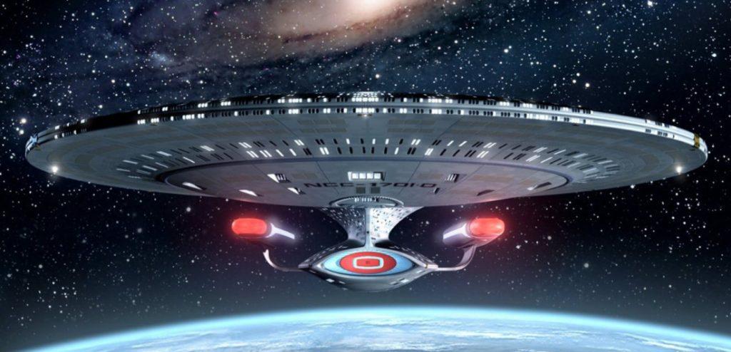 Una navicella spaziale di Star Trek
