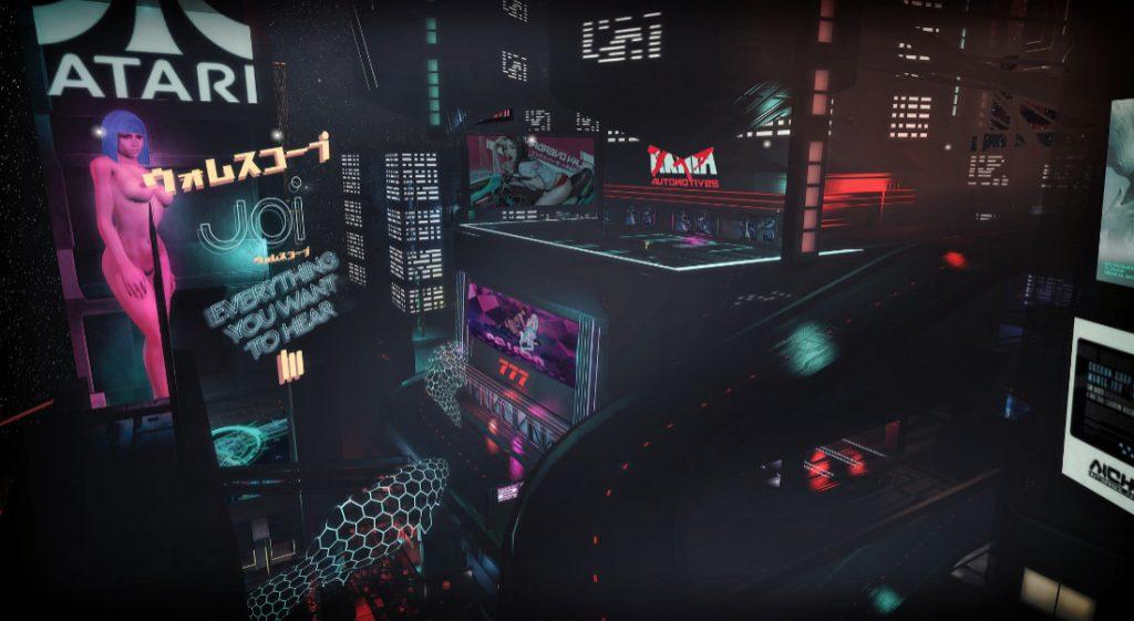 Un insieme di raffigurazioni del cyberpunk giapponese